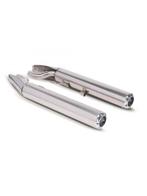 2x CUSTOM Slip On L/R and selectable endcaps, stainless steel chrome, incl. ECE type approval