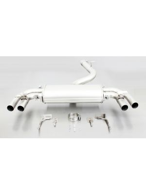 Cat-back-system with 2 integrated valves (selectable tail pipes)