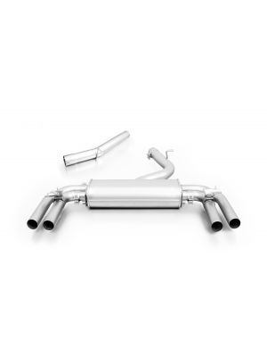 Cat-back-system, sport exhaust centered for left/right system with 2 integrated valves and non-resonated front section (selectable tail pipes), no (EC-) approval