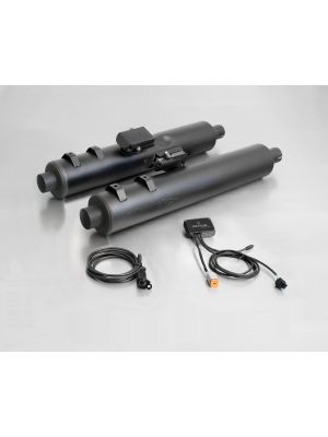 CUSTOM exhaust, without cat., without endcaps, stainless steel black, with SC15-system